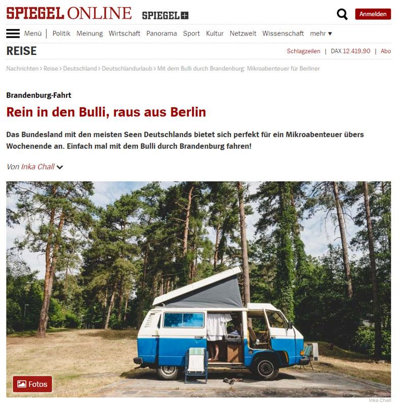Brandenbulli-Artikel in Spiegel Online
