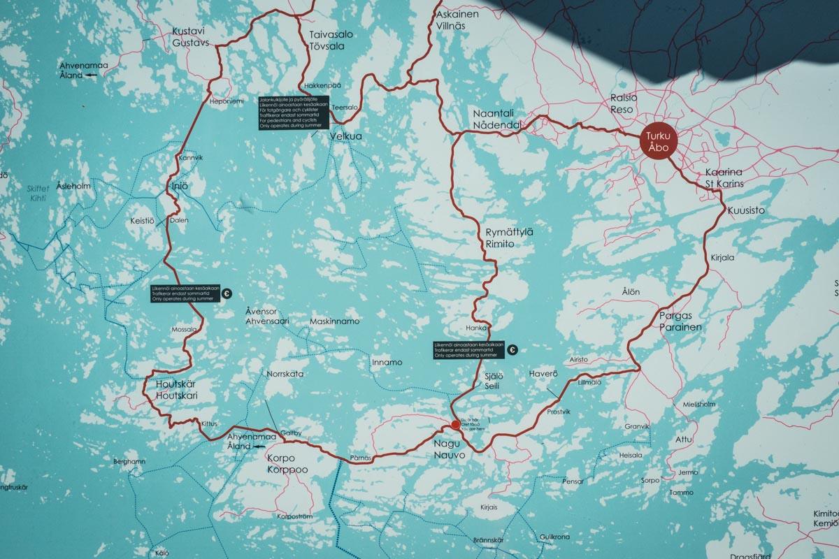 Karte vom Archipelago-Trail
