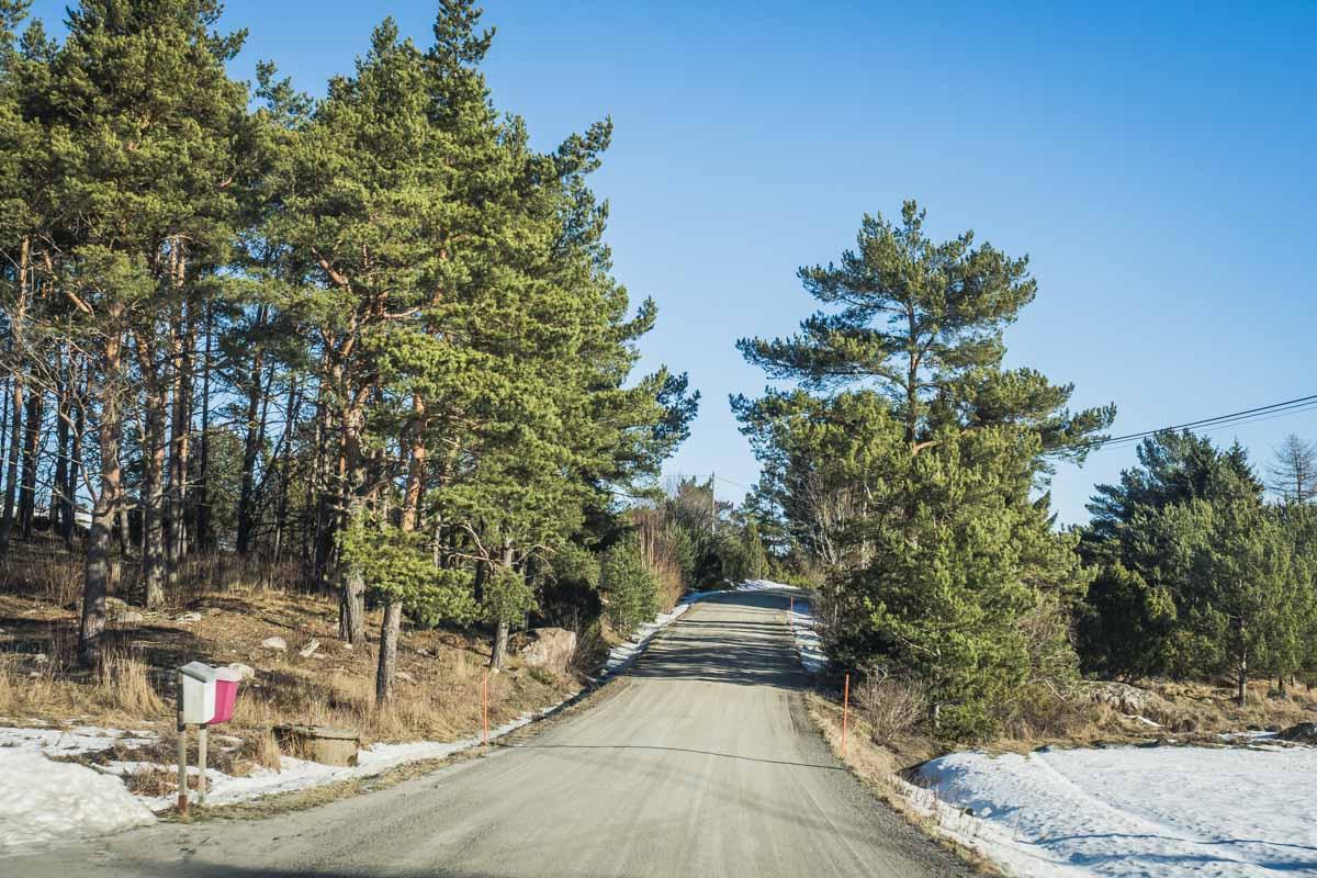 Straße auf dem Turku-Archipel