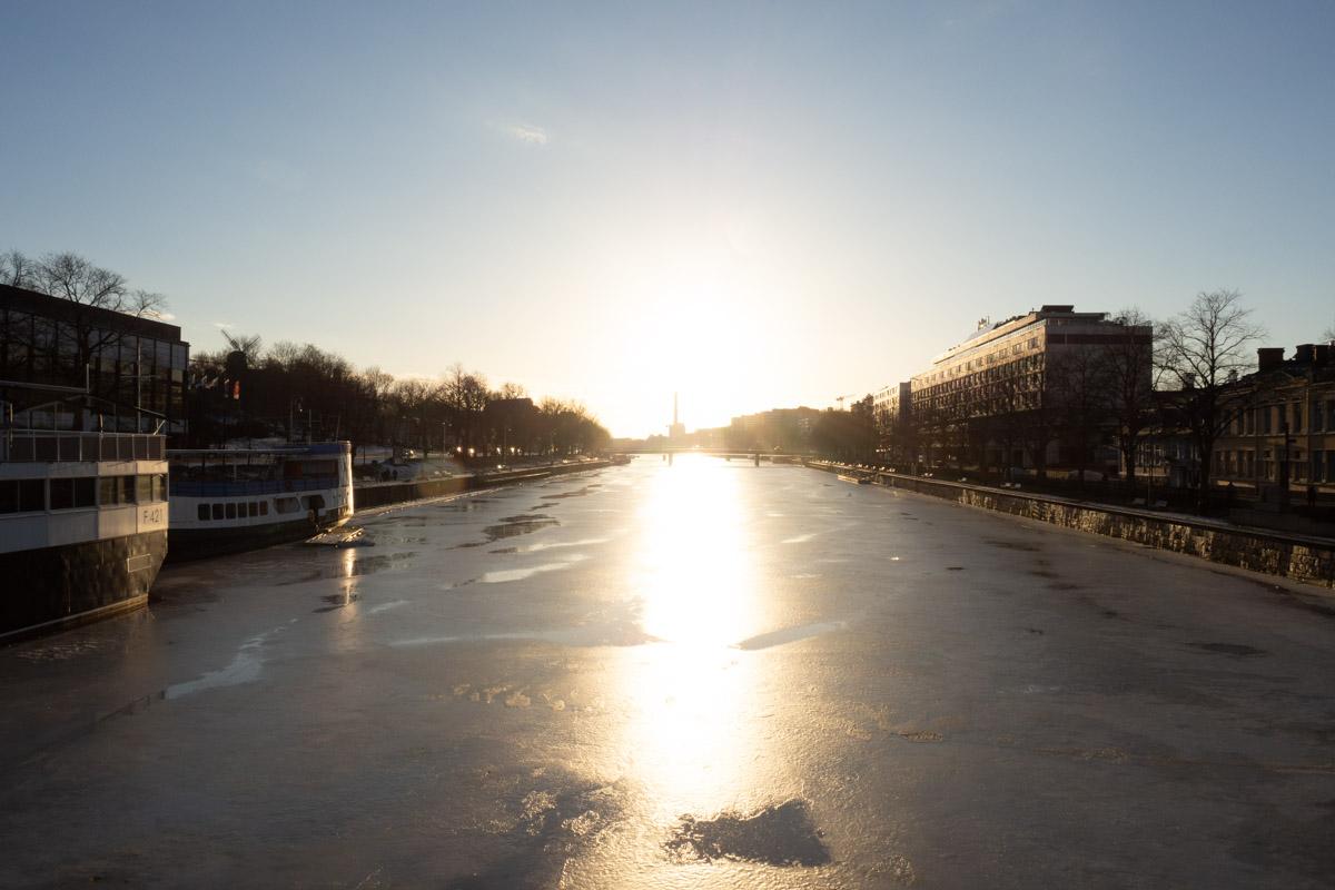 Turku im Abendlicht