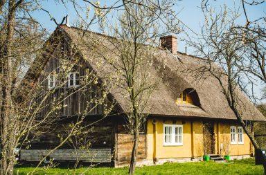Spreewald-Haus mit Reetdach