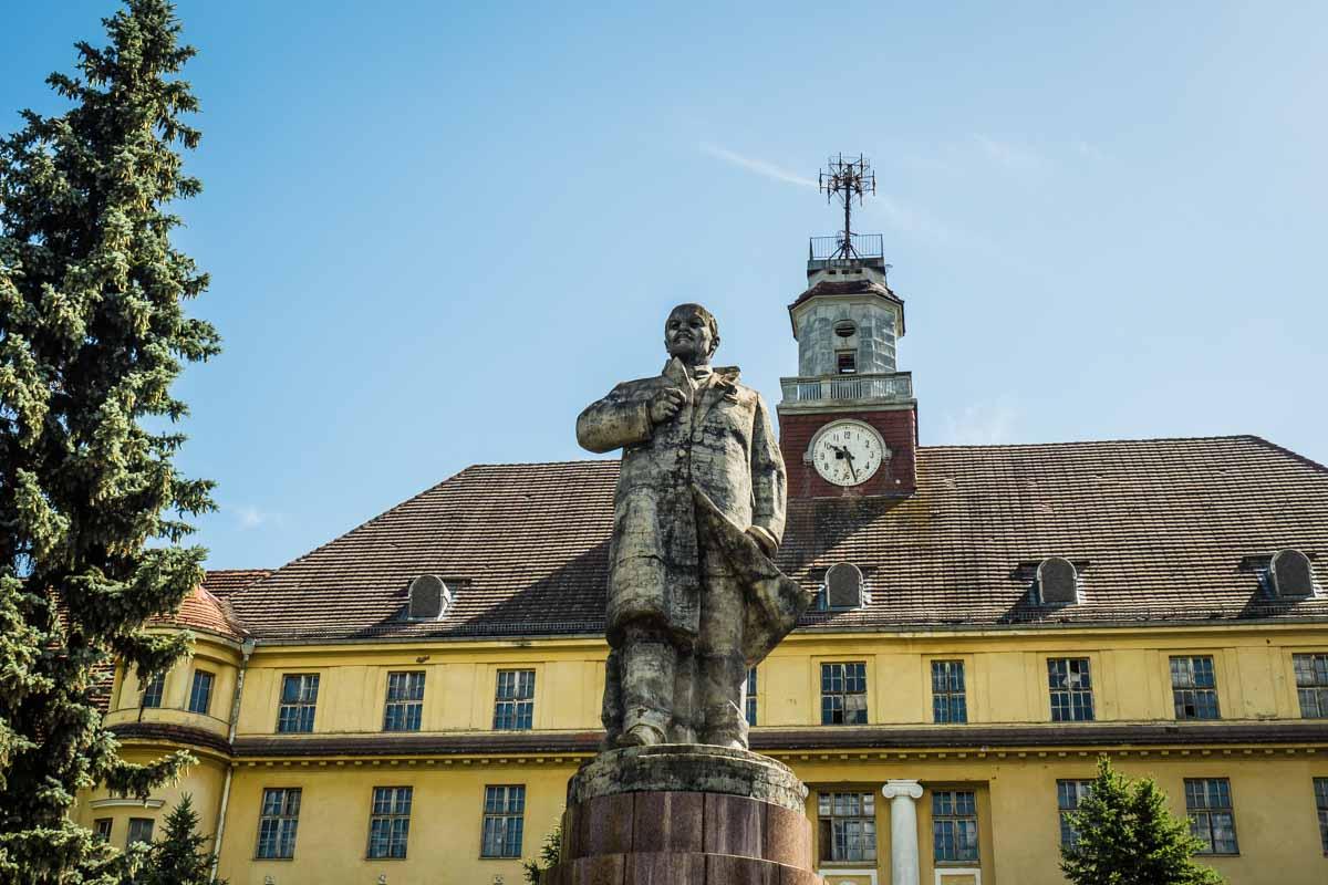 Lenin-Statur in Wünsdorf