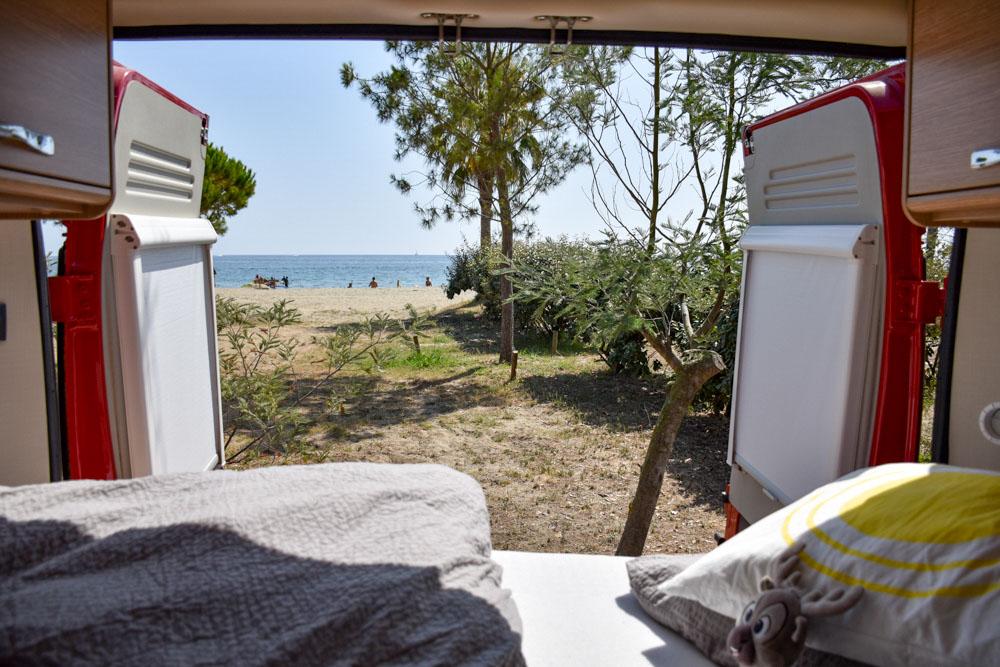 Camping Blick aufs Meer