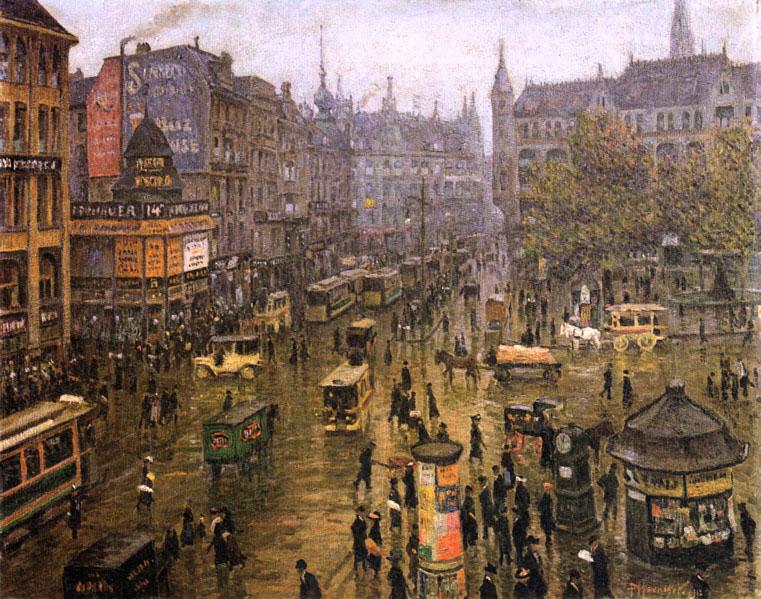 Gemälde Spittelmarkt von Paul Höniger