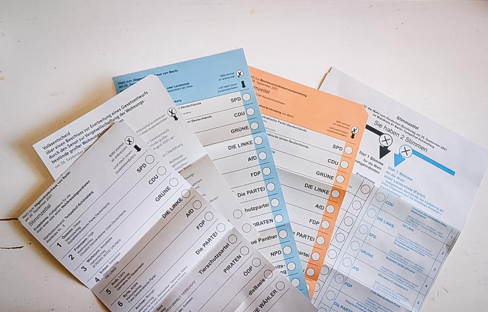 Briefwahl-Unterlagen
