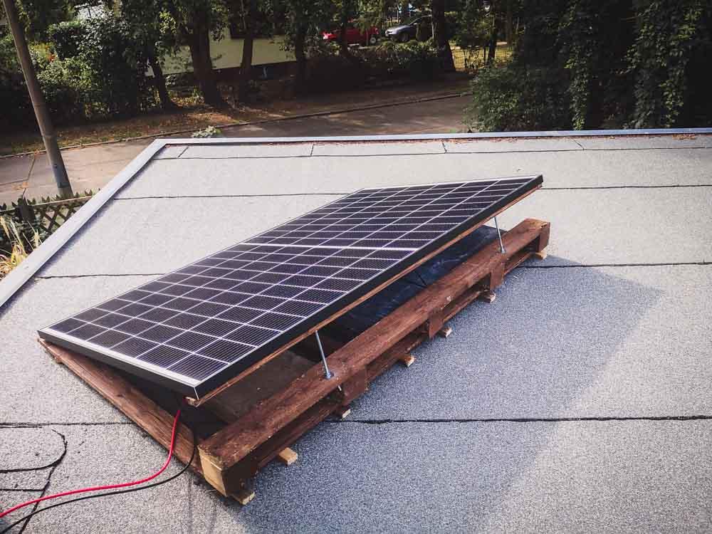 Balkon-Solaranlage